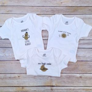 100% organic cotton 9 month graphic onesies